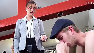 Brunette sex video featuring Danny D and Rilynn Rae