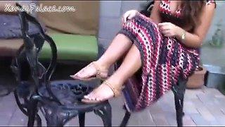Beautiful Brunette Feet Show