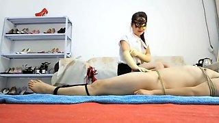 Chinese Mistress Force Handjob Twice