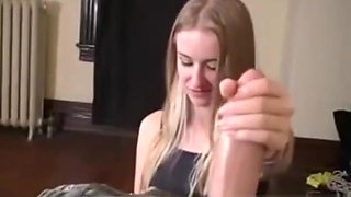 My sisters reluctant handjob
