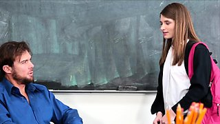 18-year-old cutie fucked by her teacher