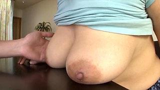 Lactating Asian babe fucked hard