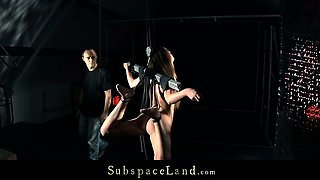 Sweet Alexis Crystal tormented hard in bondage devices