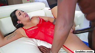 Busty Babe Karlee Grey handled an 11 inch monster cock