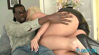 Big racked blonde whore is actually nuts about riding strong long BBC