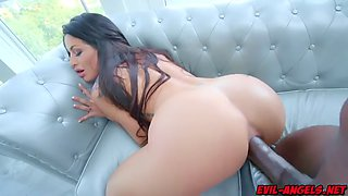 Kissa sins anal fuck by prince yahshuas big black monster cock