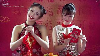 Chinese lesbians in Cheongsam