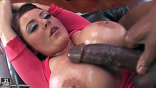 Yummy Sophie Dee Has Interracial Sex With A Giant Black Cock