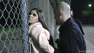 Immigrant Latina chick Katya Rodriguez is punished by patrol dude hard