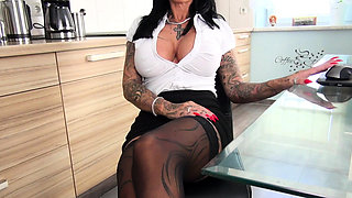 german amateur secretary milf big tits fuck in office