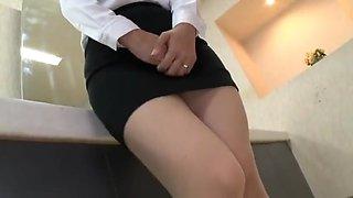 Office lady in public toilets
