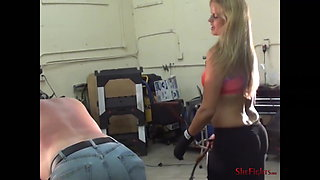 Cassidys Most Severe Whipping - Fighter showing her Skills