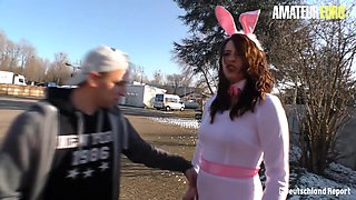 AMATEUR EURO - Easter Bunny Babe Mia Bang Offers A Hardcore Surprise To Her Lover