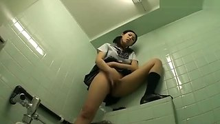 Wet masturbation in school 42