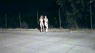 Two nude amateur sluts