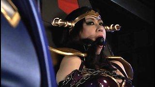 Wild Asian babes in uniform explore their lesbian fantasy