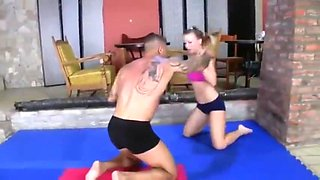 Mixed Wrestling - Zsolt loses once again