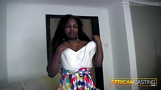 African amateur model gets fucked at casting