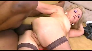 Hot mature woman gets her holes drilled hard