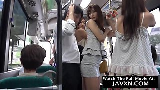 Japanese girls are beautiful and they often get molested in the bus, which they like a lot