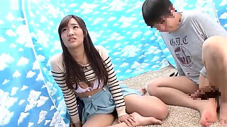 Sweet Japanese babe gets banged by a virgin for money